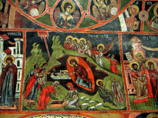 Iconografie într-o biserică din satul Dobarsko Lucky Bansko