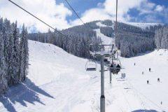 Pârtie de schi în Muntele Pirin