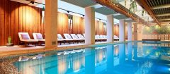 Pool and spa at the Hotel Lucky Bansko