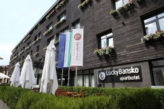 Fatada hotelului Lucky Bansko Aparthotel & Spa