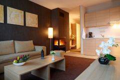 Lucky Bansko Aparthotel SPA & Relax | Apartament Camera Deluxe și bucătărie