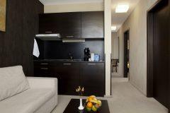 Lucky Bansko Aparthotel SPA & Relax | Apartament Lux cameră de zi și o bucătărie