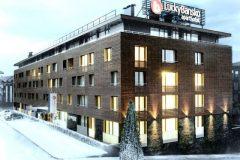 Aparthotel Lucky Bansko|fțadă hotelului acopertă cu zăpadă