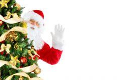 Moș Crăciun în spatele copacului | Lucky Bansko SPA & Relax